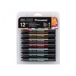 Set de 12+1 Promarker Manga...